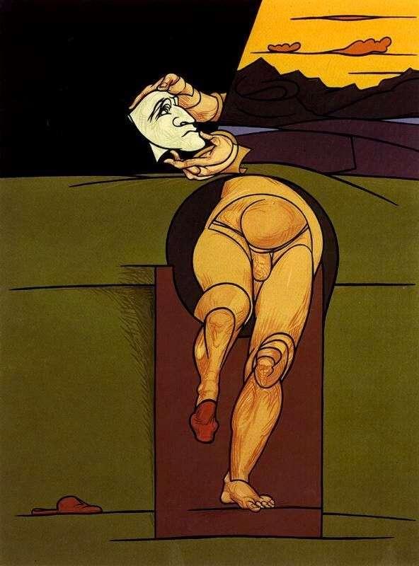 Autoritratto, Valerio Adami, 1983