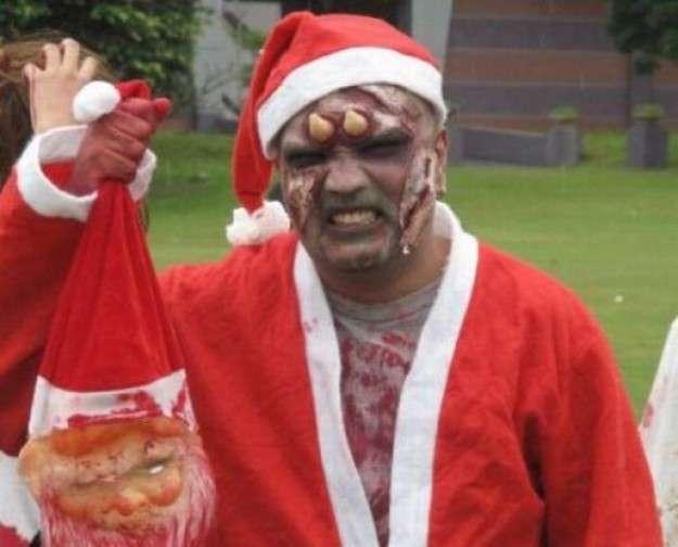Babbo di Natale versione zombie