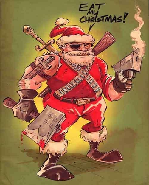 Babbo Natale armato