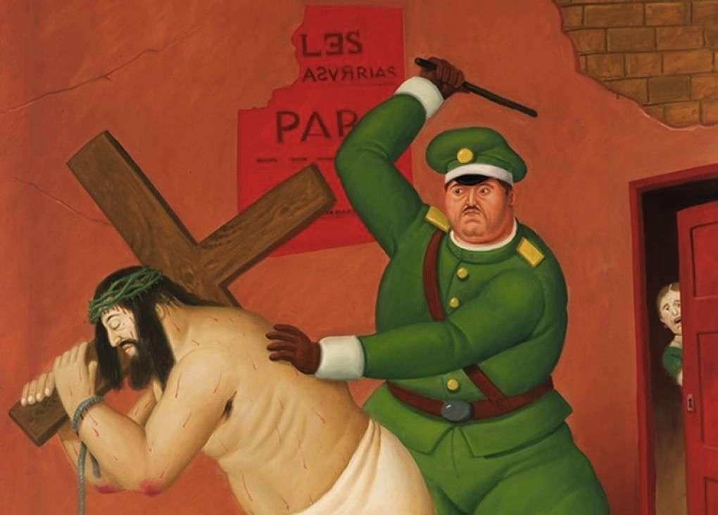 Fernando Botero, Cristo e la Croce