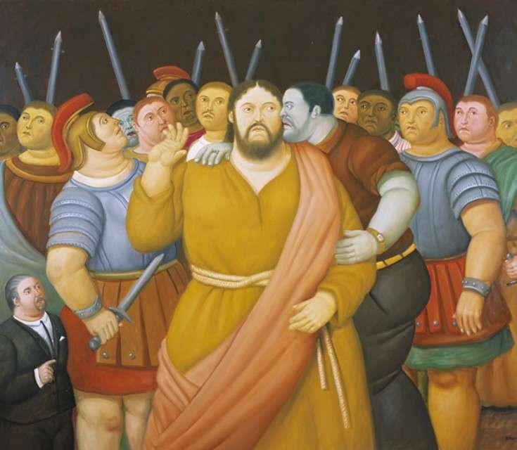 Fernando Botero, Il bacio di Giuda