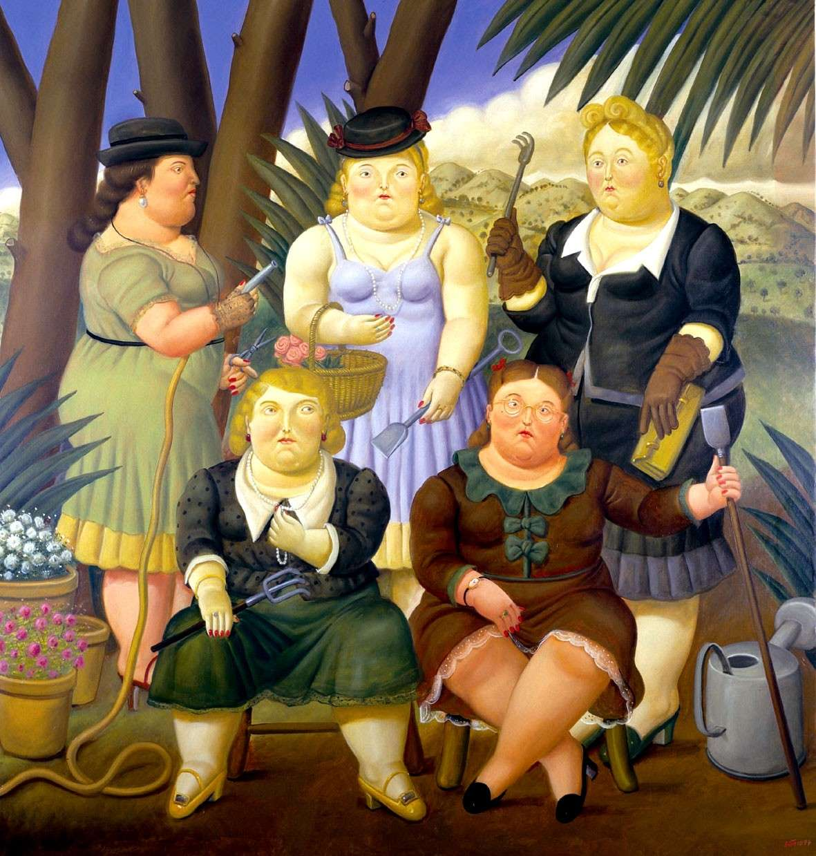 Fernando Botero, Il club del giardinaggio