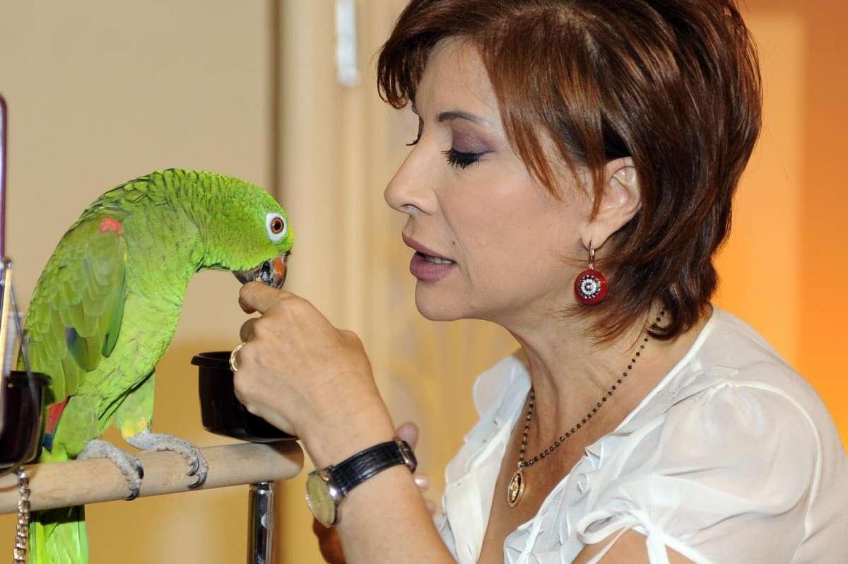 Alda D'Eusanio e il pappagallo