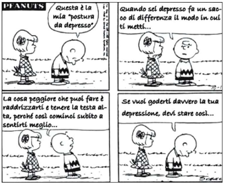 Charlie Brown e la postura da depresso