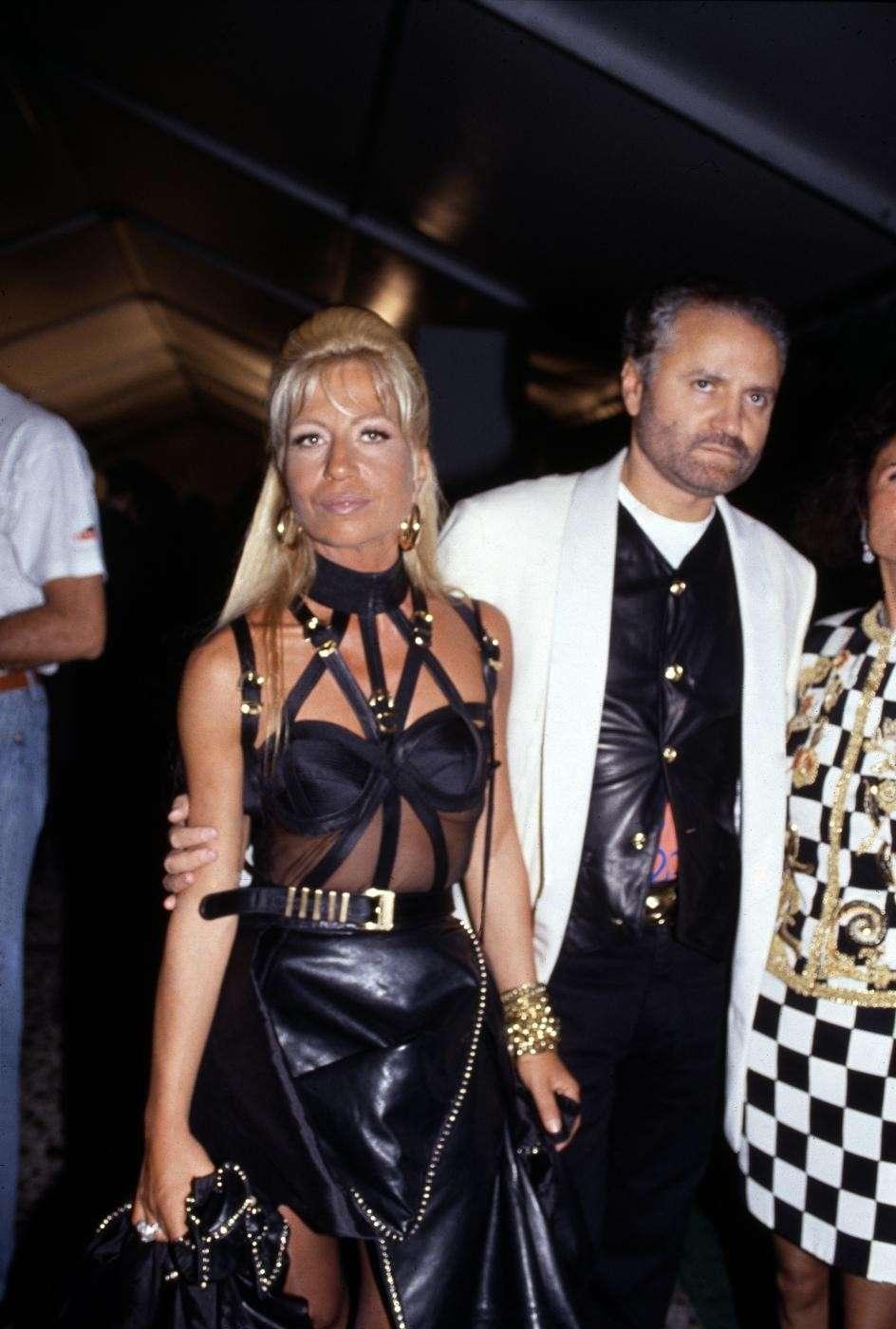 Gianni Versace e la sorella Donatella Versace - 1990