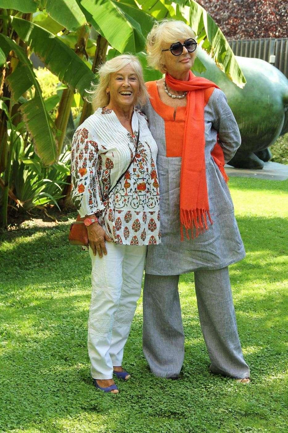 L'attrice Loretta Goggi con Cinzia TH Torrini