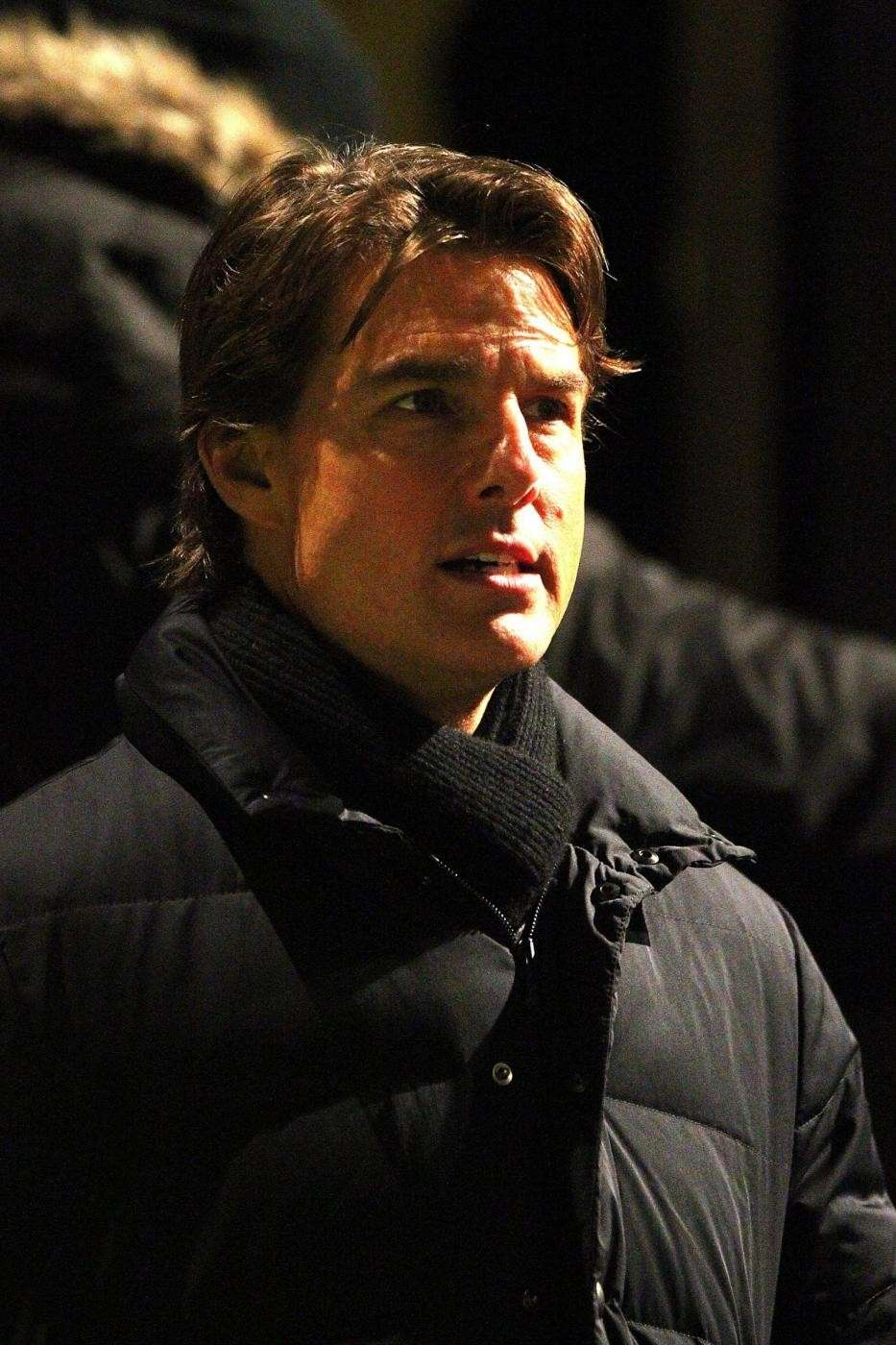 Tom Cruise sul set