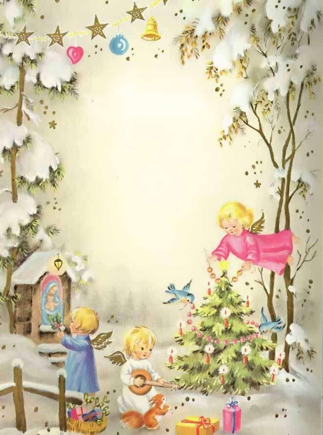 Letterina di Babbo Natale con angeli