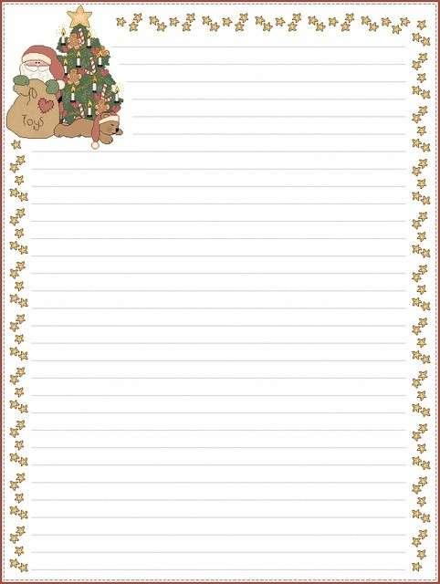 Letterina di Babbo Natale con cornicetta a stelle