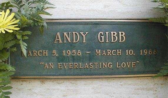 Tomba di Andy Gibb