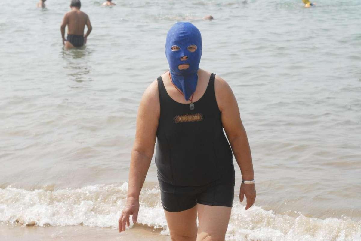 Facekini blu