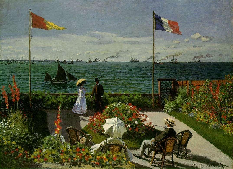 Terrazza sul mare a Sainte - Adresse, 1867