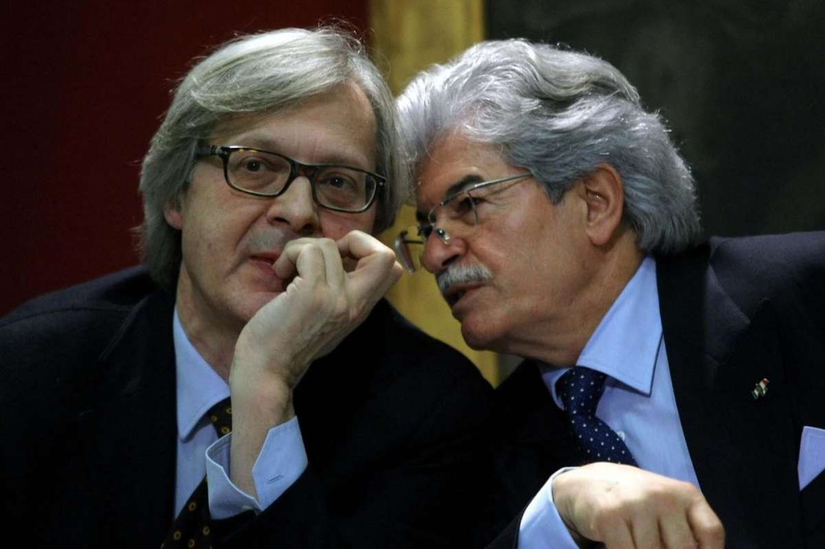 Vittorio Sgarbi con Antonio Razzi