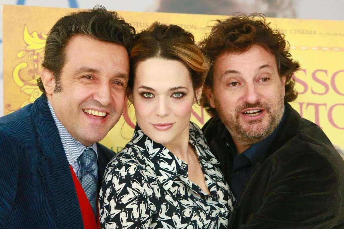 Leonardo Pieraccioni con Flavio Insinna e Laura Chiatti