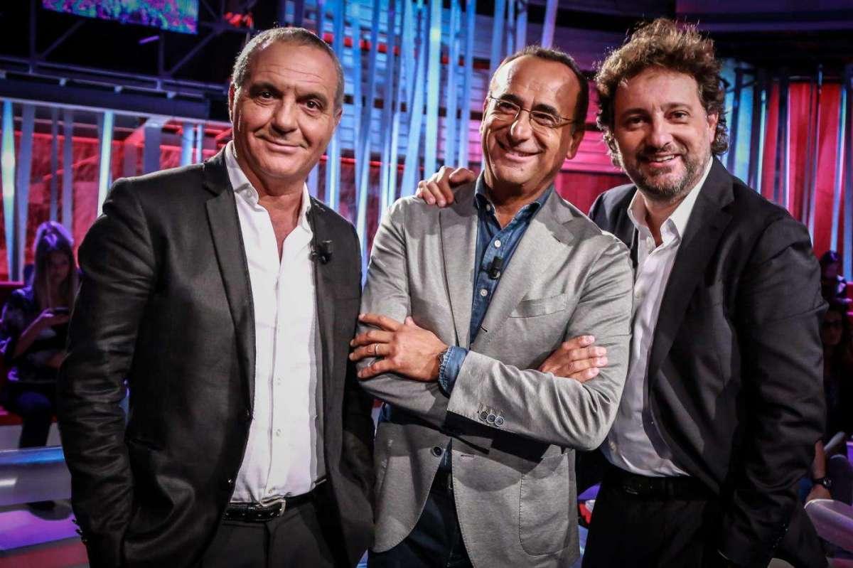 Leonardo Pieraccioni con Giorgio Panariello e Carlo Conti