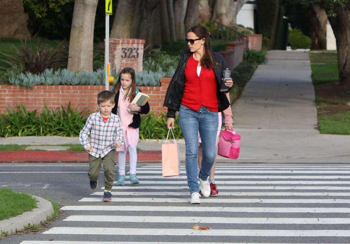 Jennifer Garner con i figli