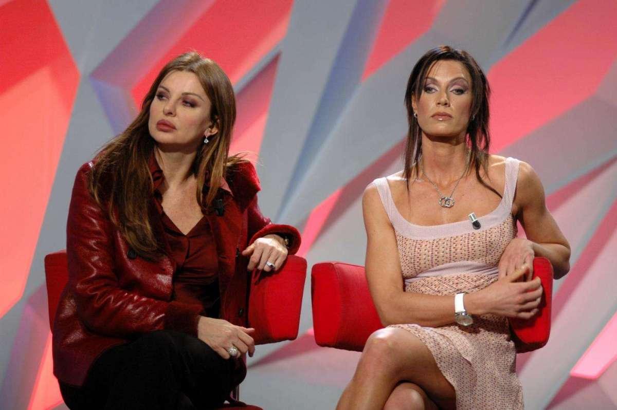 Annalisa Minetti con Alba Parietti da Cucuzza
