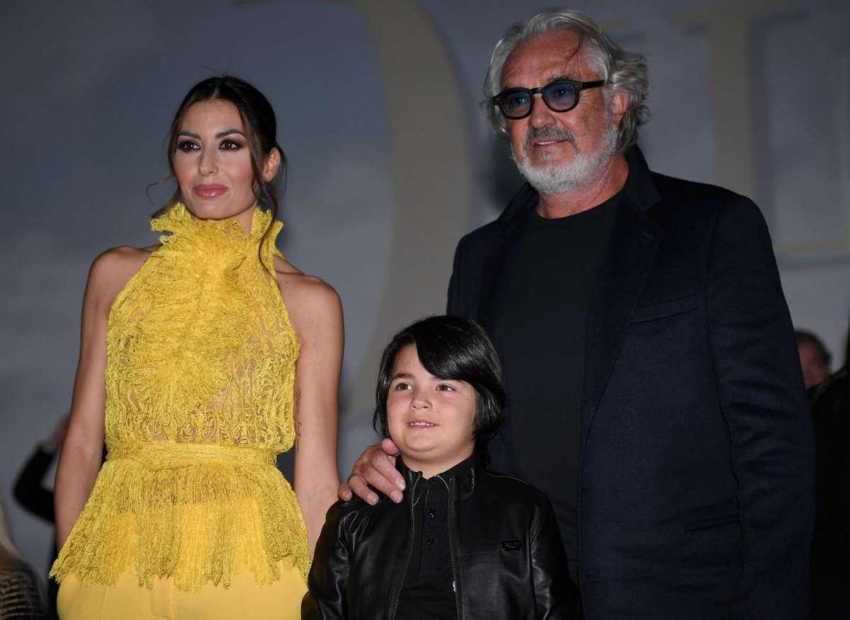 Flavio Briatore con la famiglia