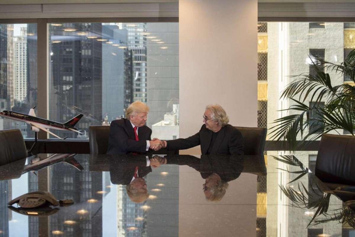 Flavio Briatore e Donald Trump
