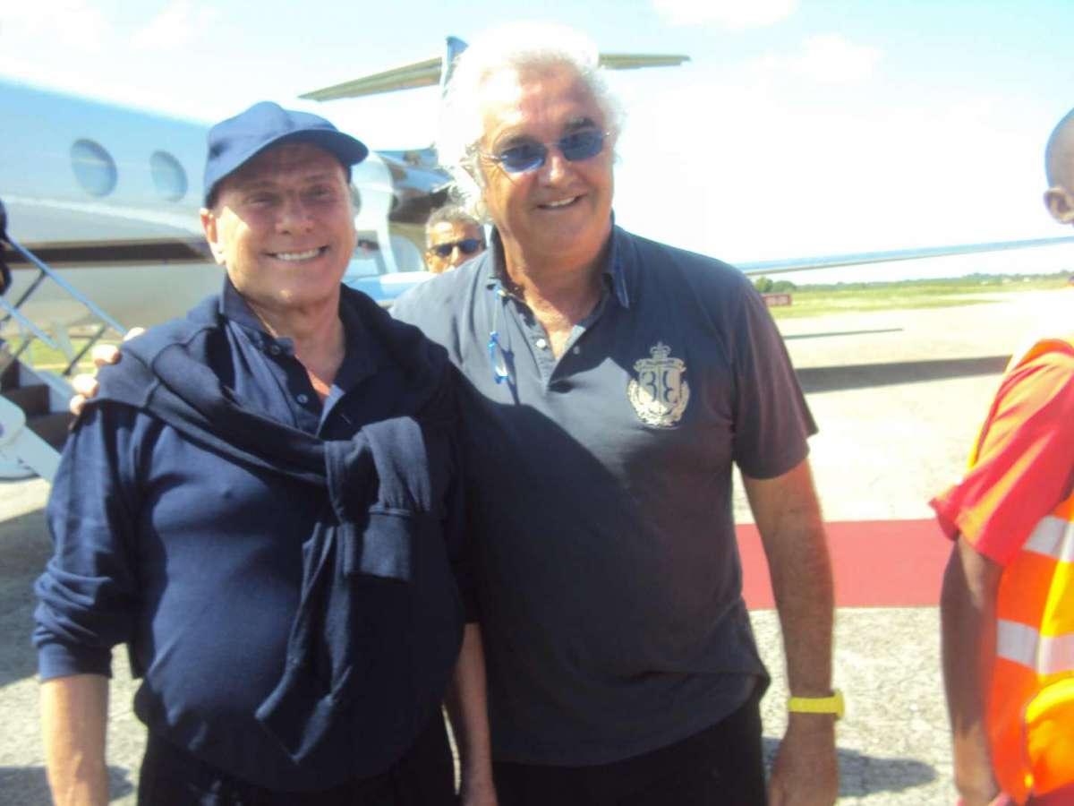 Flavio Briatore e Silvio Berlusconi