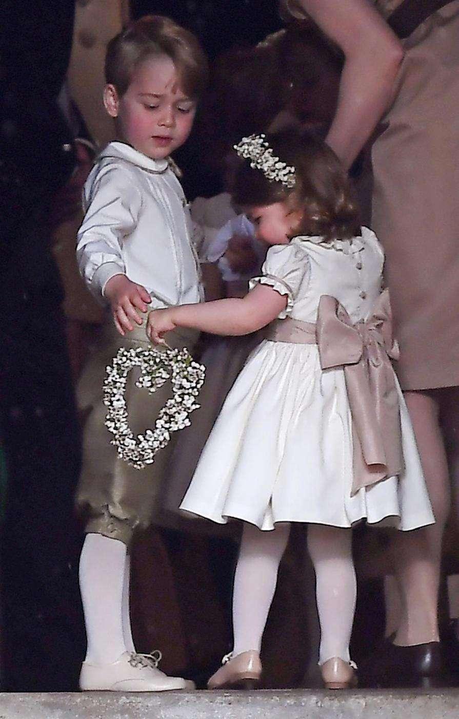 George e Charlotte al matrimonio di zia Pippa Middleton