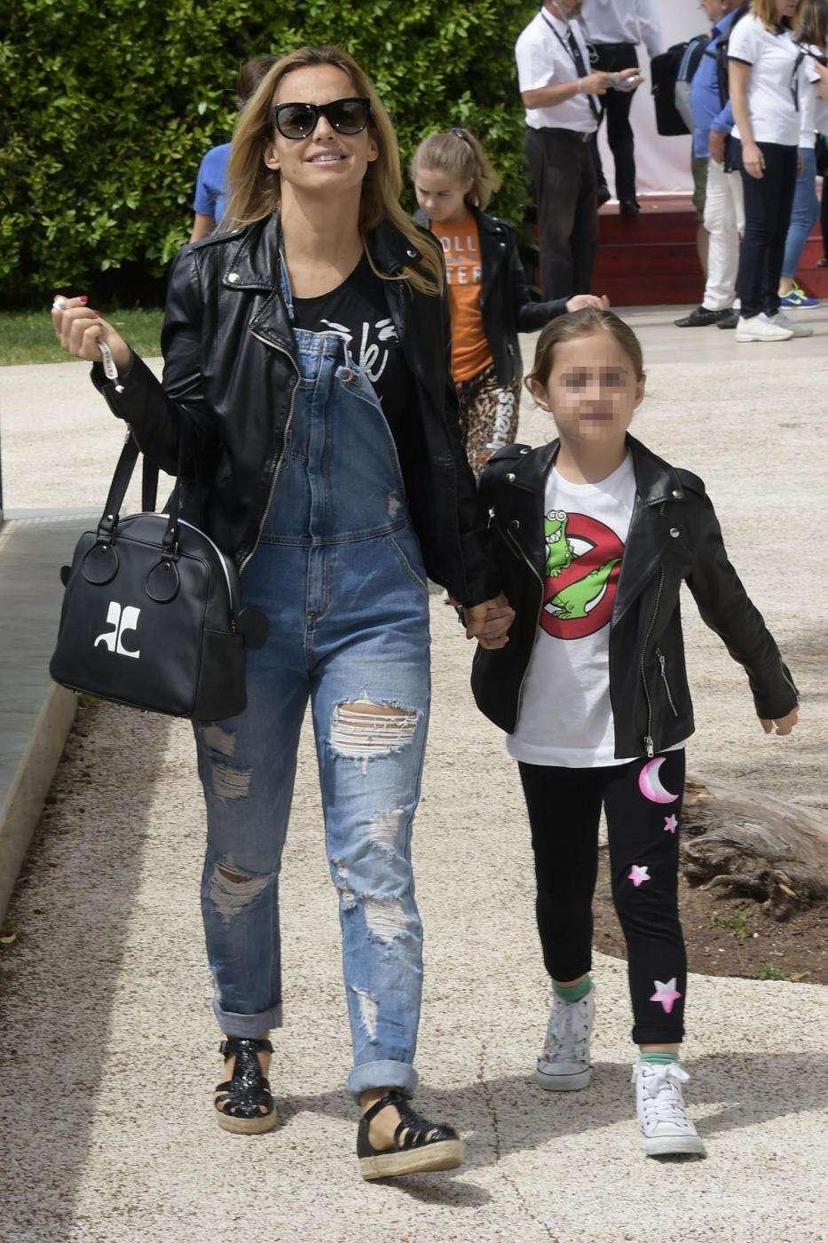 Sonia Bruganelli con la figlia