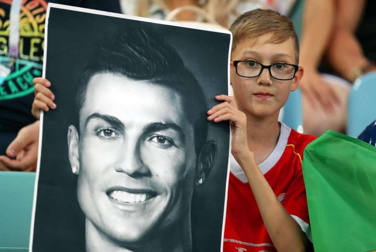 Un piccolo tifoso di Cristiano Ronaldo