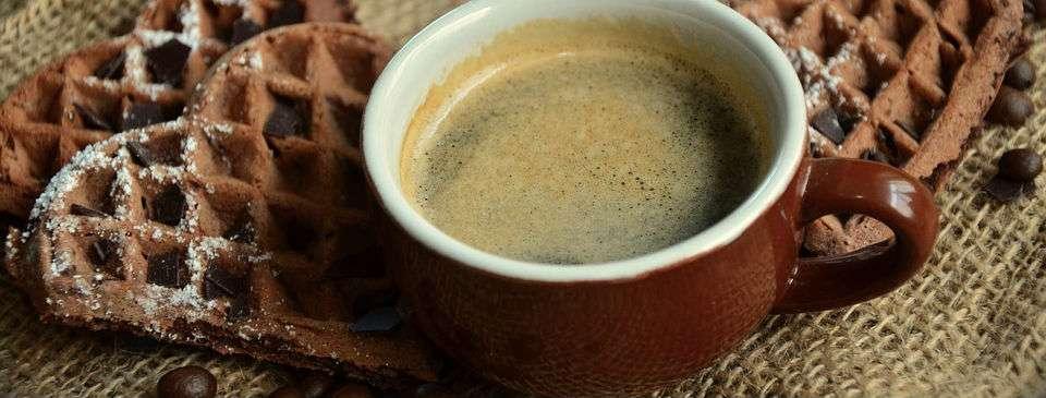Tazza di caffè e cialde