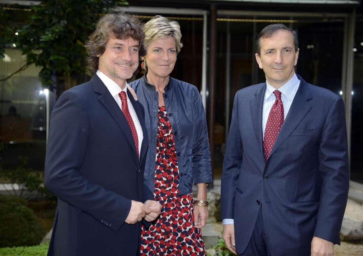 Alberto Angela con Evelina Christillin e Luigi Gubitosi