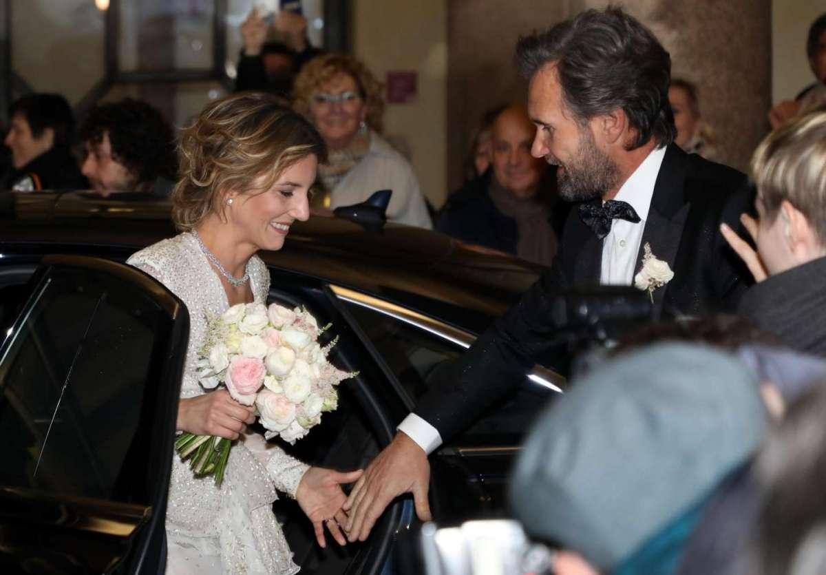 Carlo Cracco e Rosa Fanti nel giorno del matrimonio