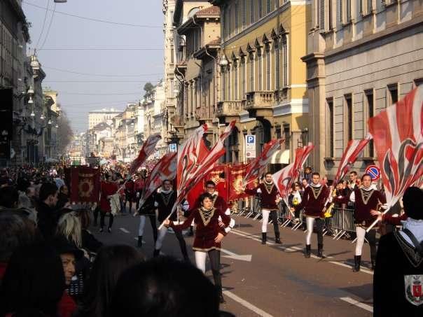Gli sbandieratori del Carnevale ambrosiano 2009