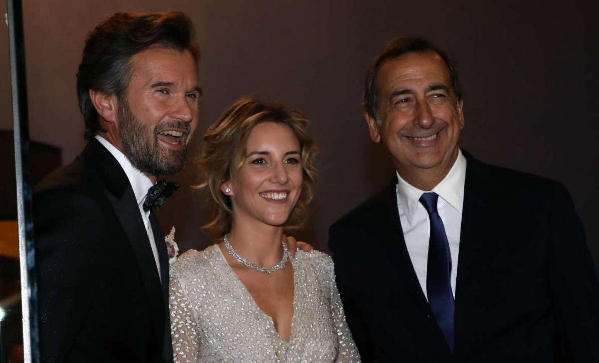 Gli sposi col sindaco di Milano Beppe Sala
