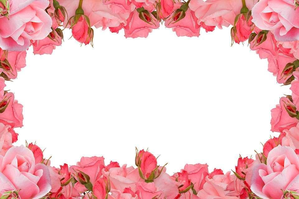 Cornice di rose per l'8 marzo