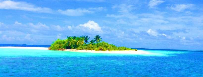 Cover Facebook, mare alle Maldive