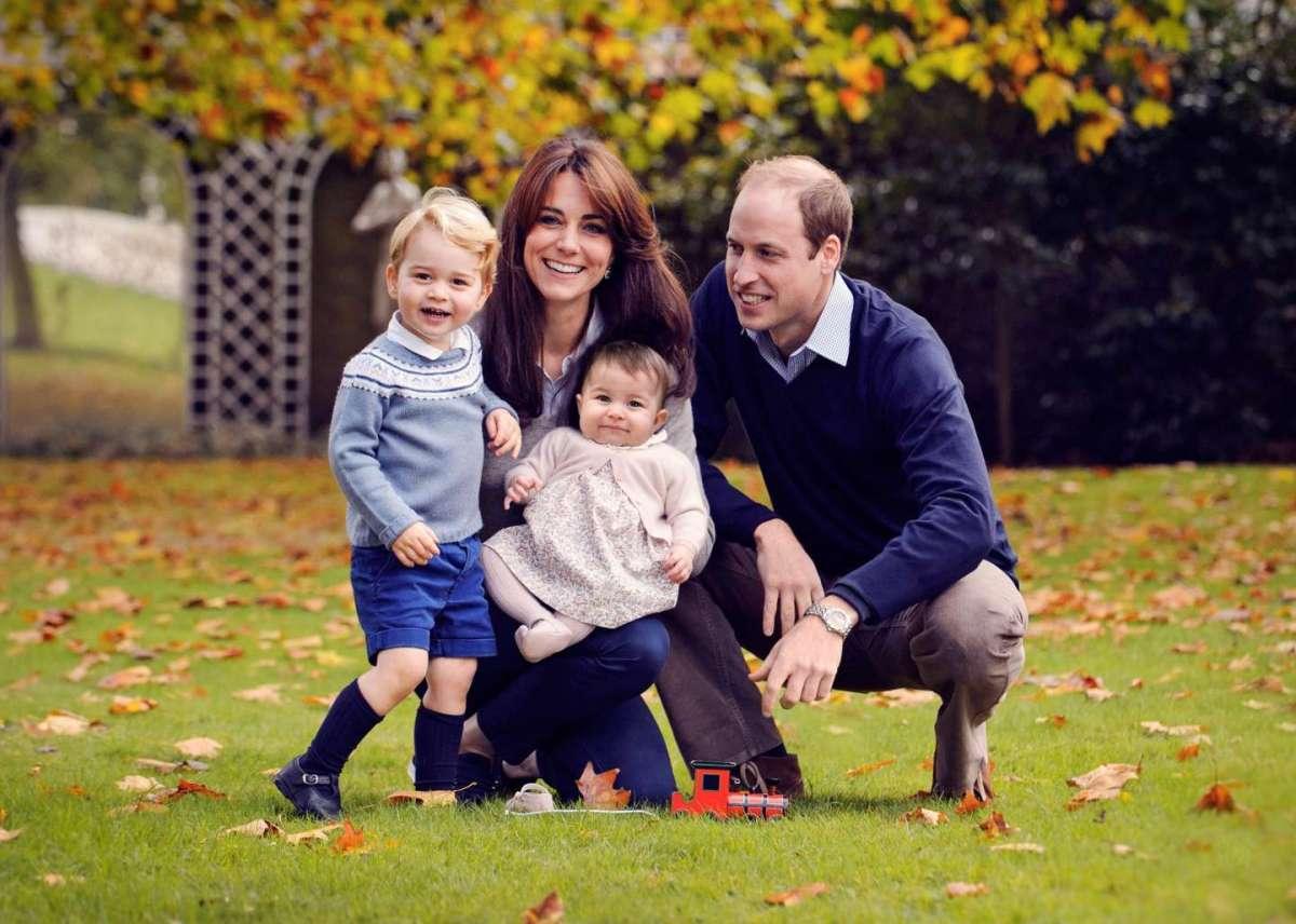 George, Kate, Charlotte e William nel 2015