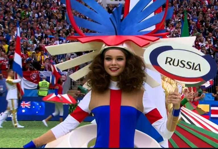 Cerimonia di apertura Mondiali 2018, madrina Russia