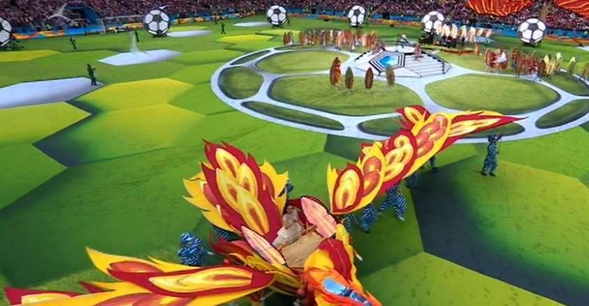 Cerimonia di apertura Mondiali 2018, scenografia