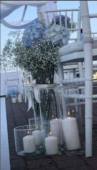 Candele e fiori per il matrimonio di Francesca Barra e Claudio Santamaria