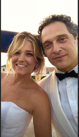 Claudio Santamaria e Francesca Barra, il selfie delle nozze