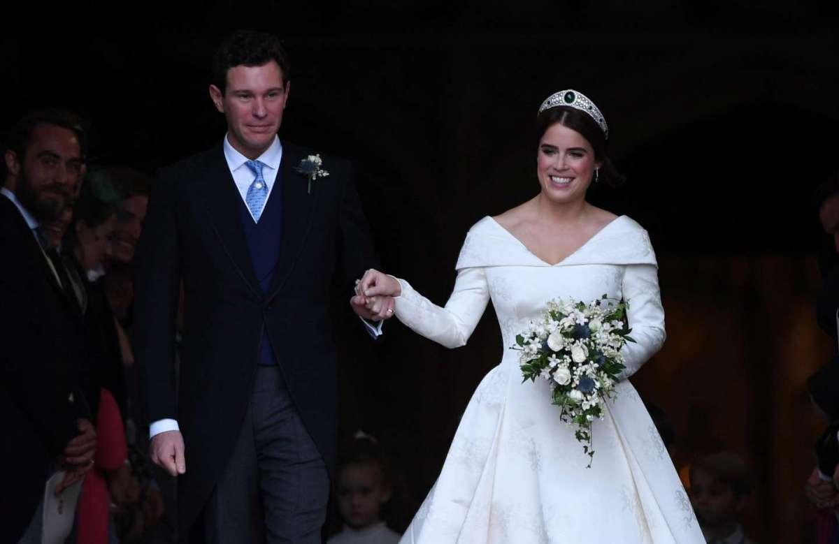 Eugenie di York e Jack Brooksbank sposi