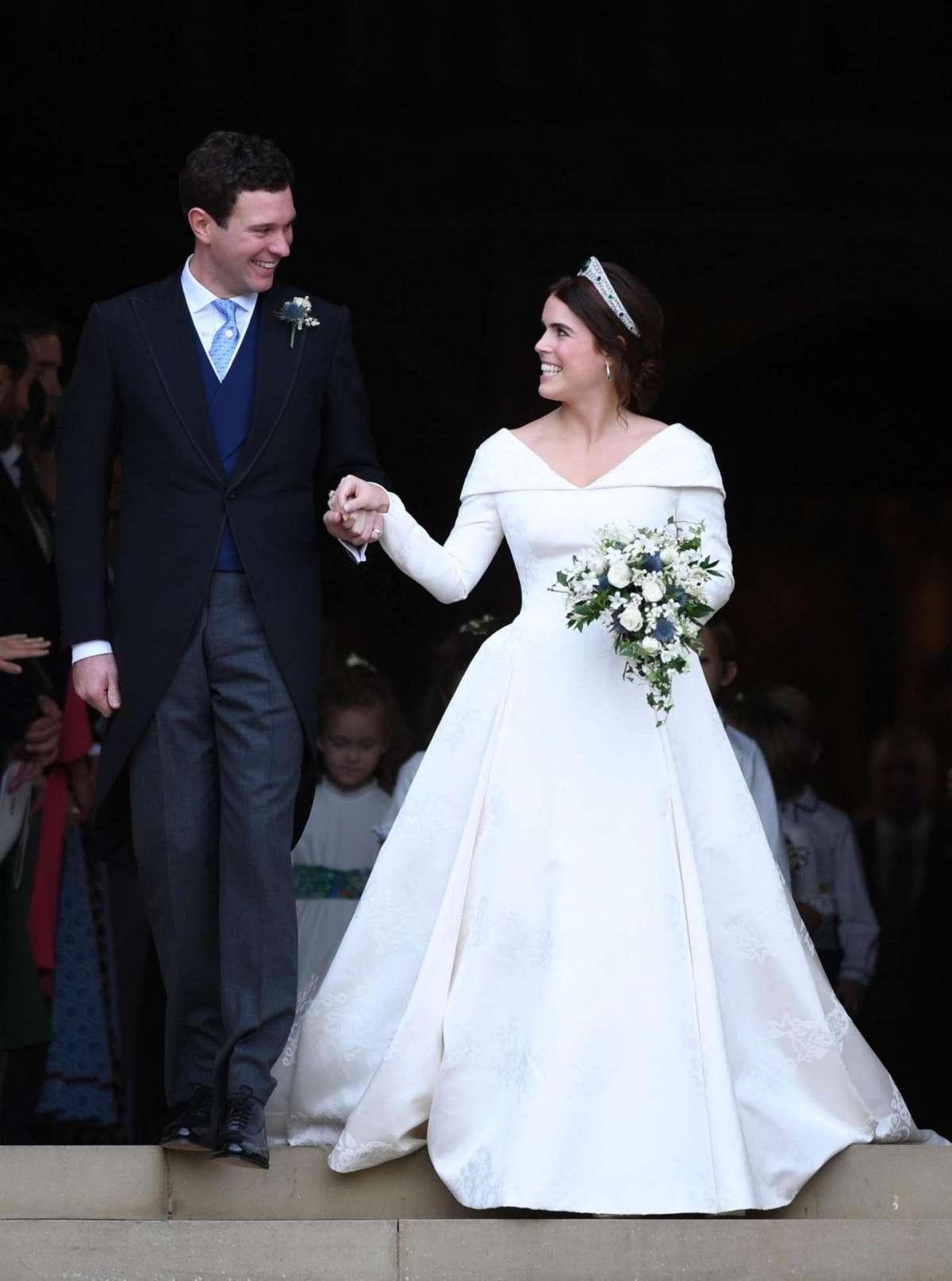 Il sorriso di Jack Brooksbank ed Eugenie di York