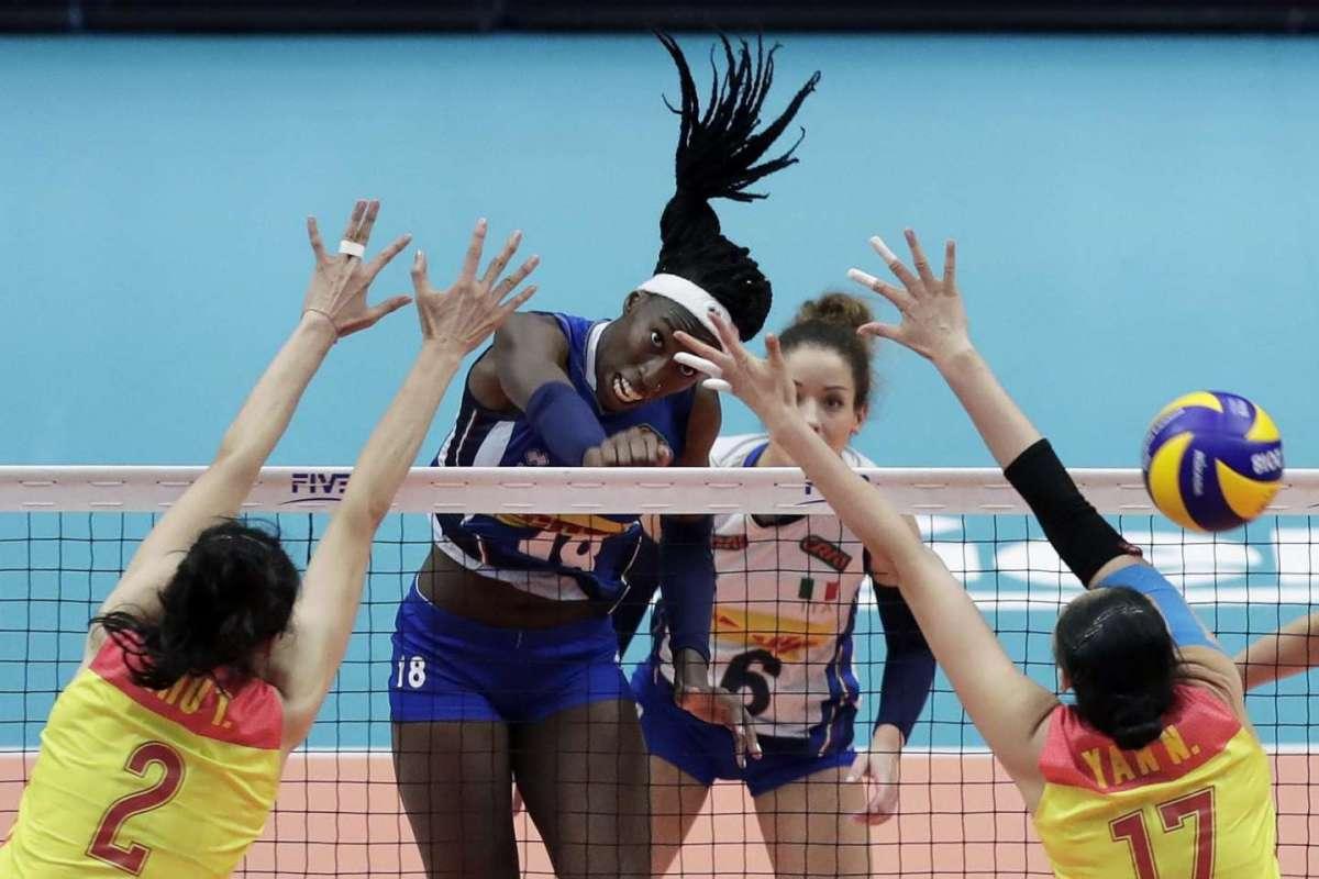 Paola Egonu in azione