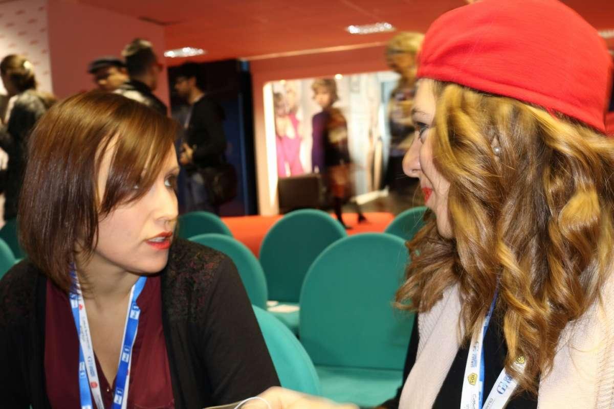 Alice e Simona da Casa Sanremo prima di un'intervista