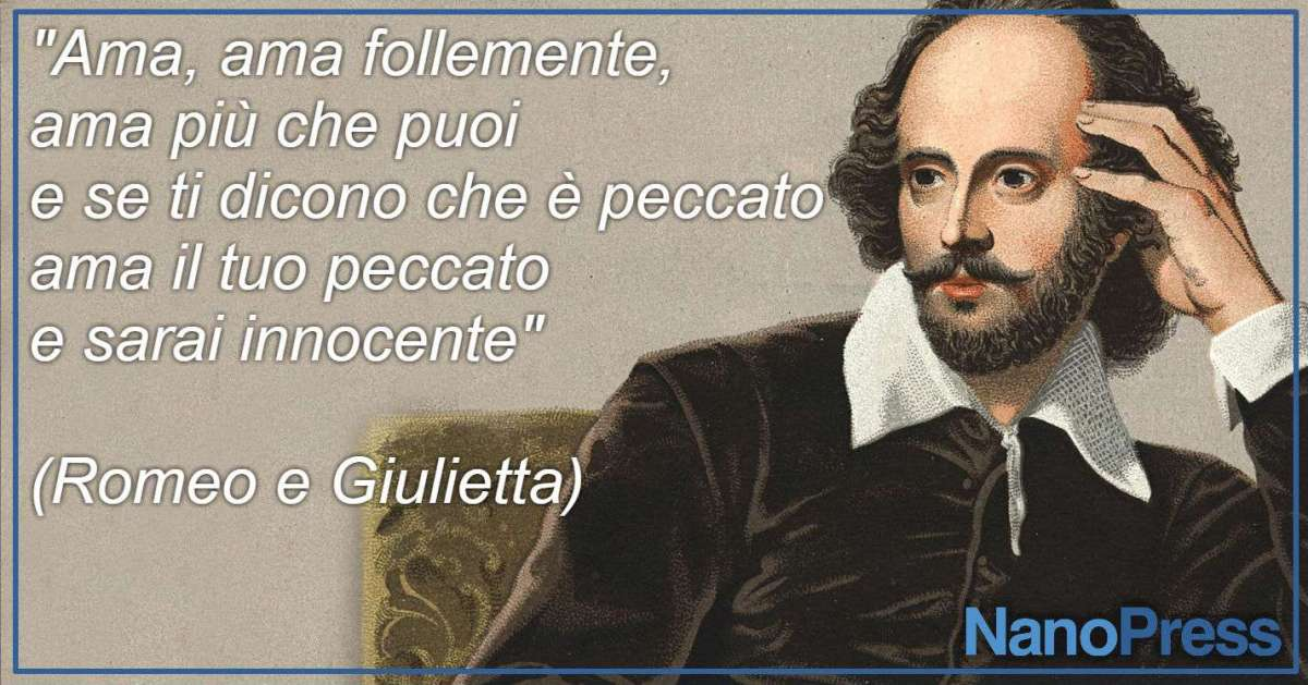 Shakespeare: frasi famose sull'amore