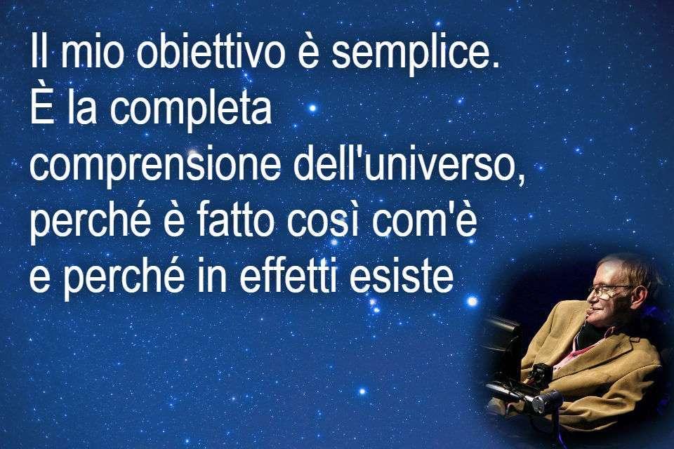 Stephen Hawking - Frase sull'universo