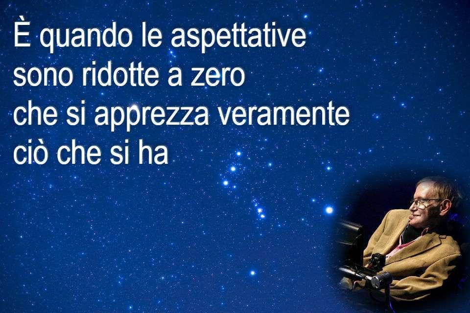 Stephen Hawking - Frase sulle aspettative